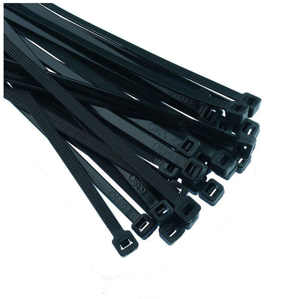 TOOGOO(R) Black Nylon Cable Ties Zip Ties Wraps - 2.5 x 100mm Pack 500pcs