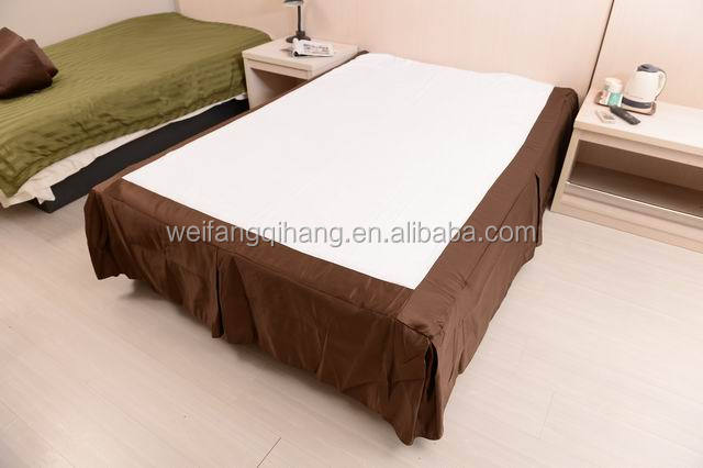 Solid Microfiber Hotel used Ruffled Bed Skirt
