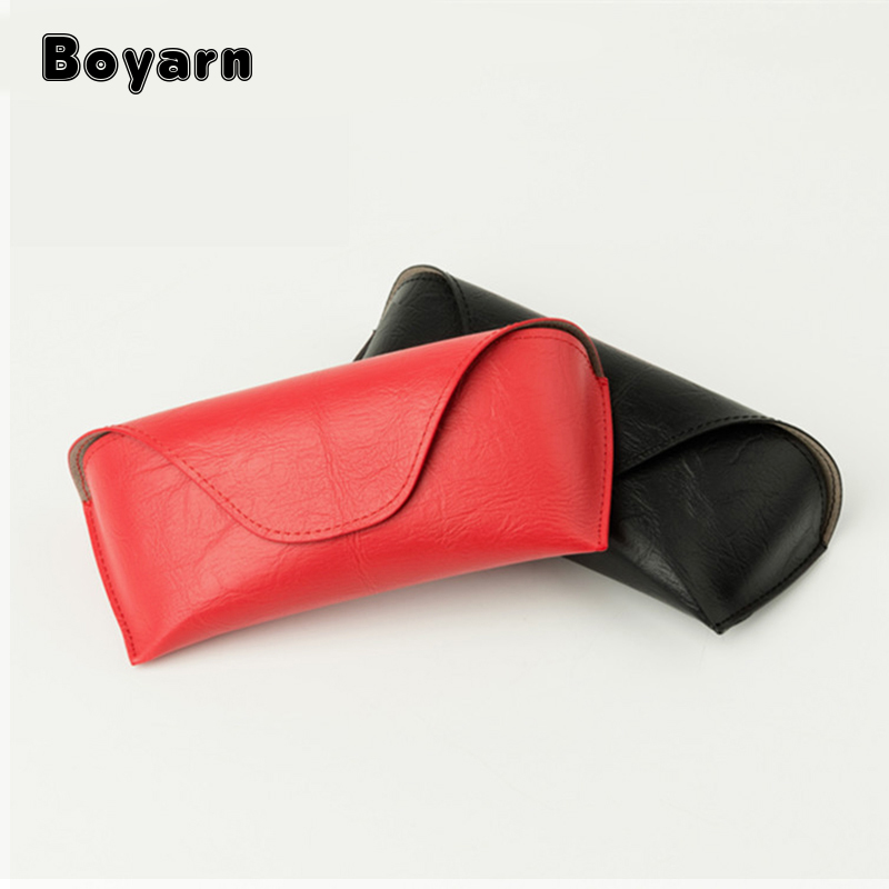 New Soft Sunglasses Case Women Luxury Eyewear Spectacles Box Eyeglass Cases Leather Cover For Glasses
