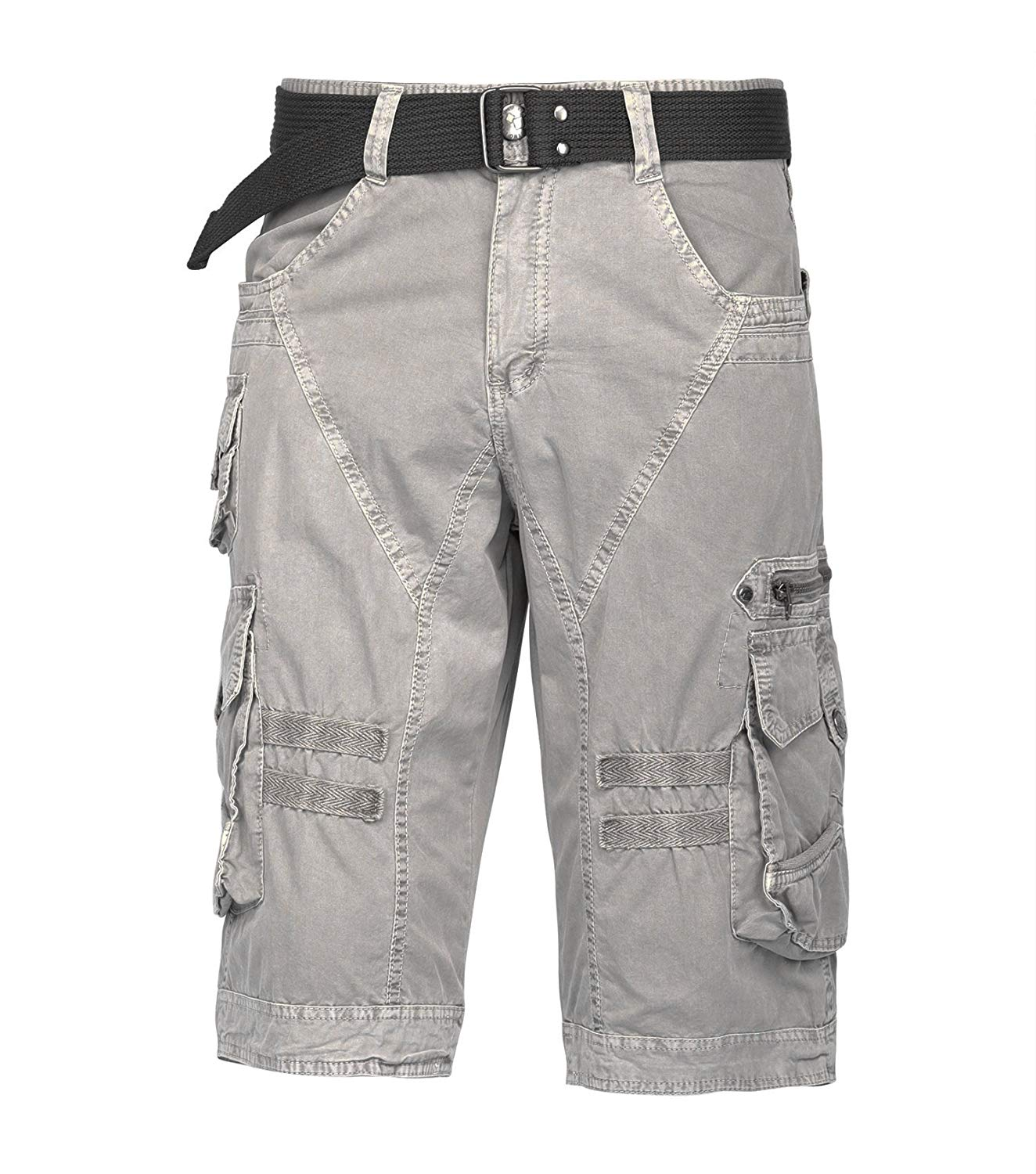Resfeber Mens Cargo Shorts/Mens Loose Fit Athletic Twill Cargo Shorts Pants
