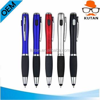 Flasher 3-in-1 Stylus, Pen, LED Flashlight