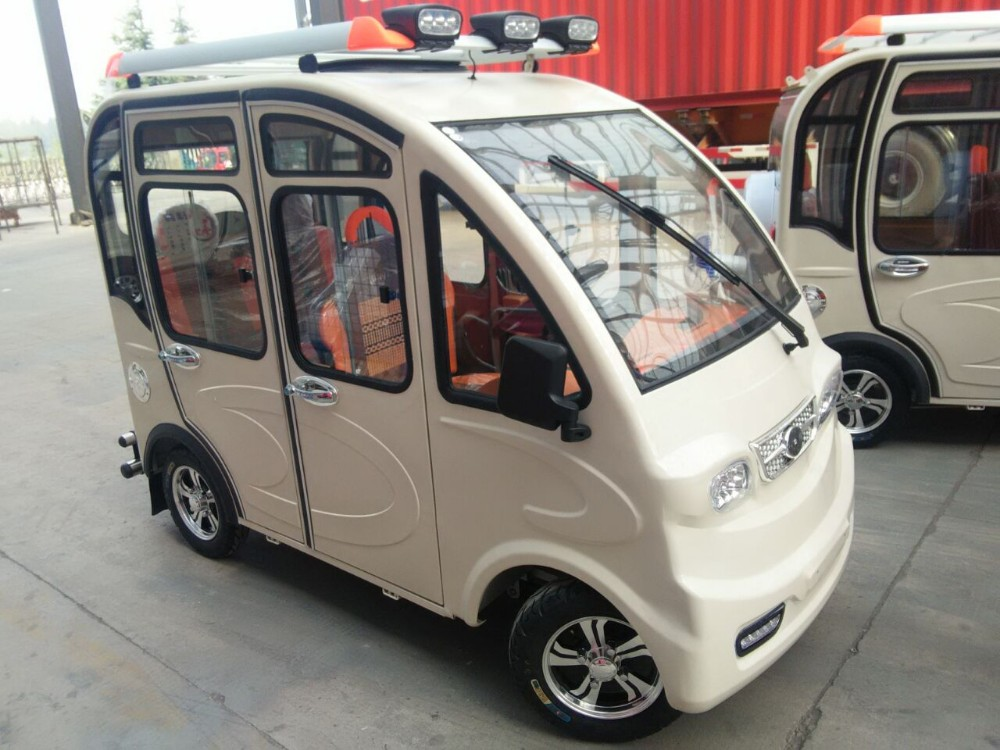 enclosed cheaper 4 wheeler electric tricycle/car