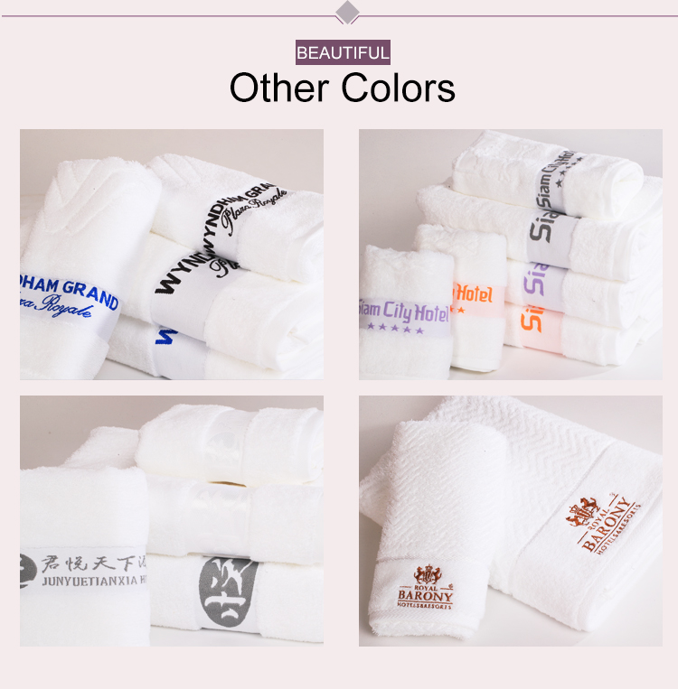 Plain Fast Dry 100% Cotton Hotel Face Towel