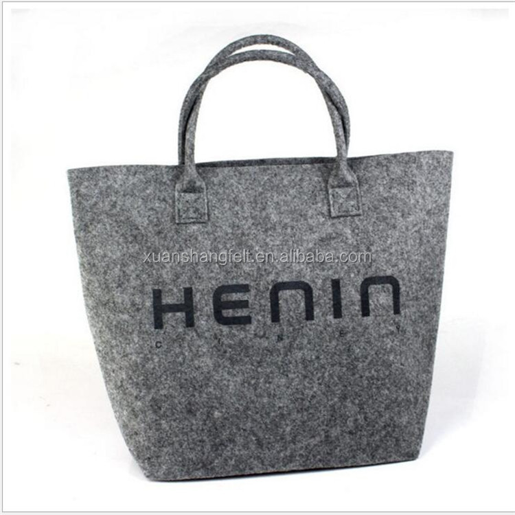 Custom logo nonwoven felt shopping shoulder BAGS