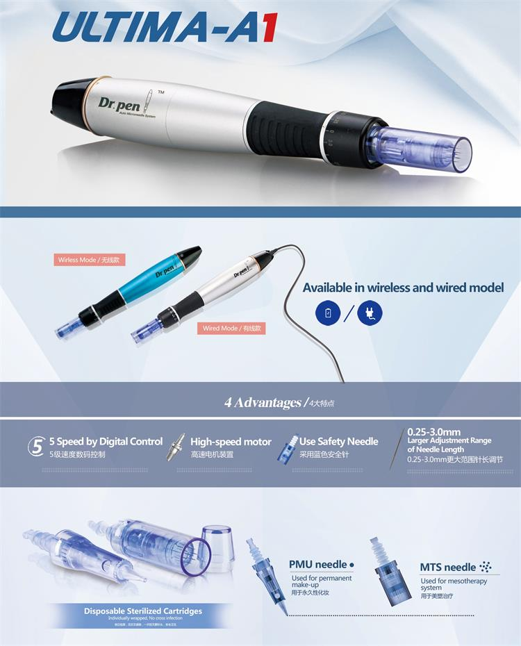 2019 Micro needling dr pen derma pen ultima A1 for skin care
