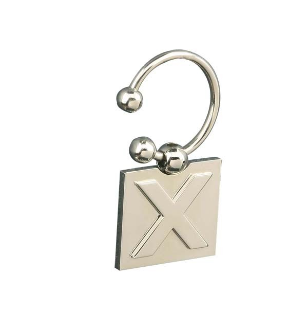 HOT sale cheap square X shape key chain metal with custom logo