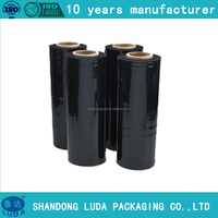 Black plastic packaging film pe stretch film cling film industry