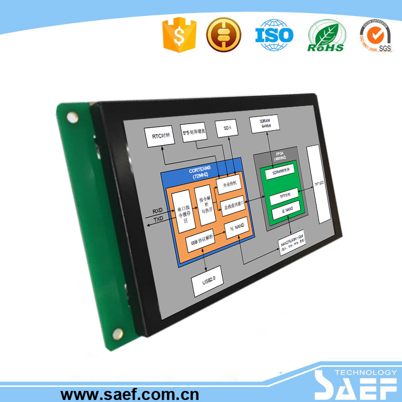 5 inch TFT LCD Module band RS232/ TTL Control Board Used for industrial products