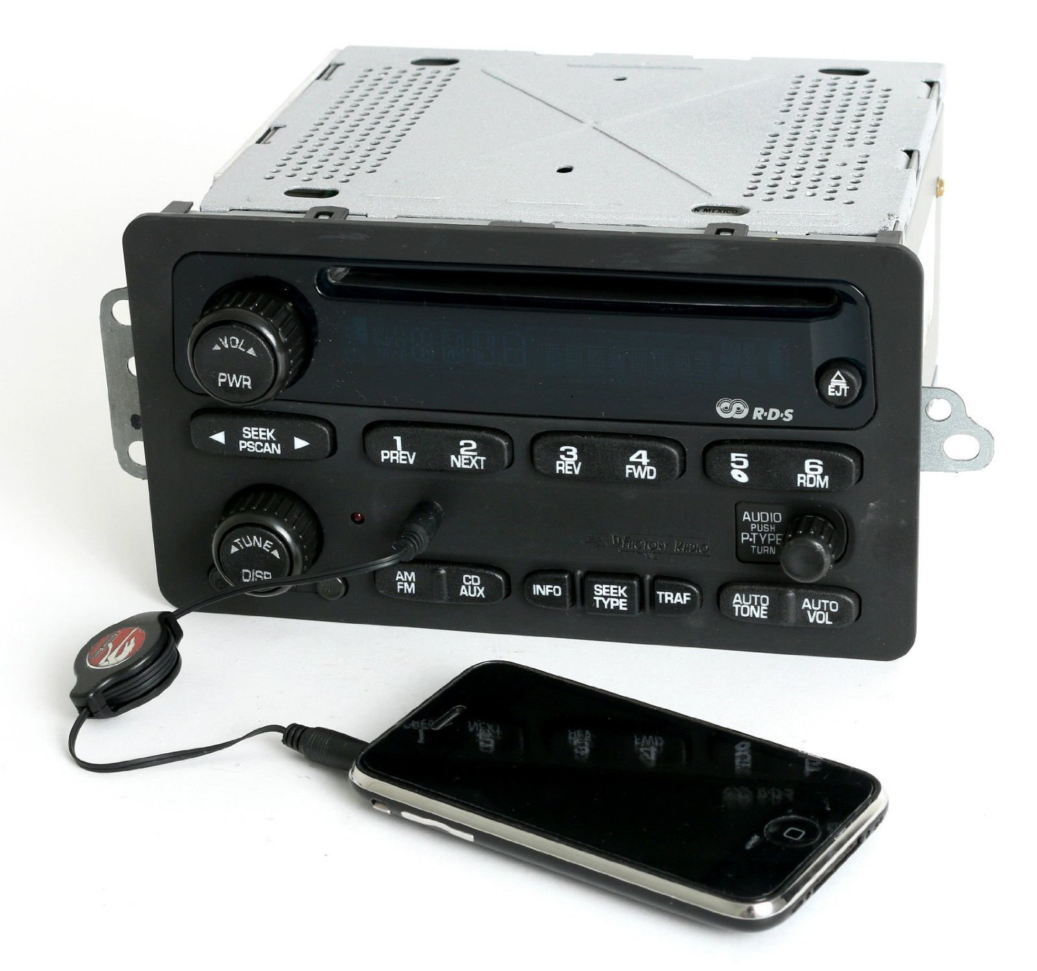 Chevy Car 2000-05 Radio AM FM CD w Aux Input - Refinished Face - RDS - 10335223