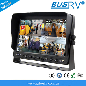 7 inch stand alone car/forklift truck paking sensor monitor with quad display