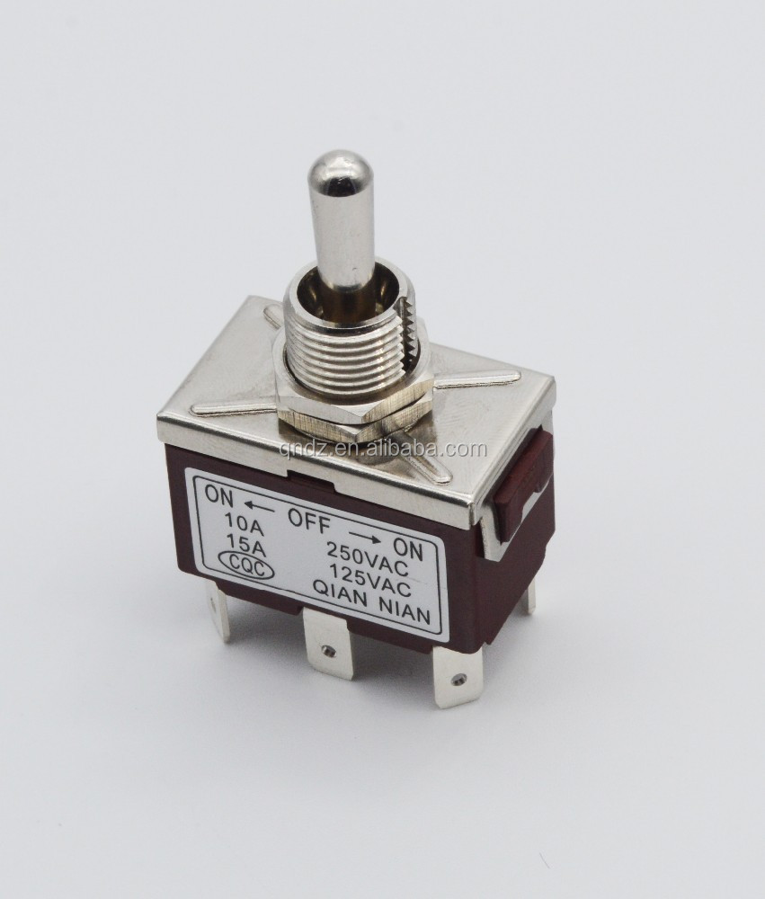 new design toggle switch on -off -on 6 solder pins toggle type
