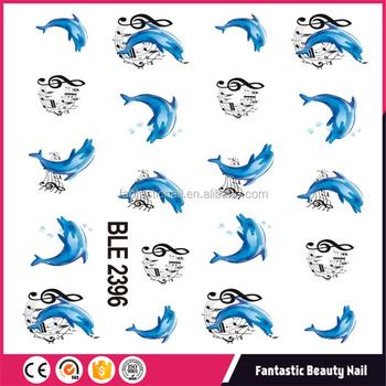 2017 Latest Design Nail Art Cute And Fashionable Cartoon Dolphins