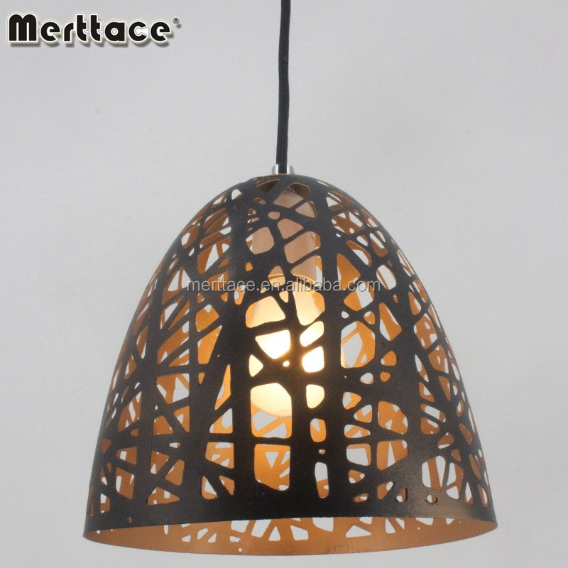 Fancy Bird's nest metal etching finished pendant lighting with E27 screw socket