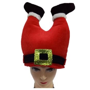 c0de2d37216 Christmas Hat Costume Accessory Red Christmas Pants Cap Funny Christmas  Santa Chimney Hats