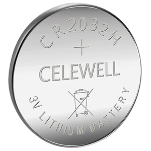 CELEWELL High Quality Durable CR2032 Battery 230 mAh High Capacity with Bulk Package or Blister Card