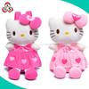 lovely plush hello kitty kids backpack /cute cartoon hello cat bag for kids