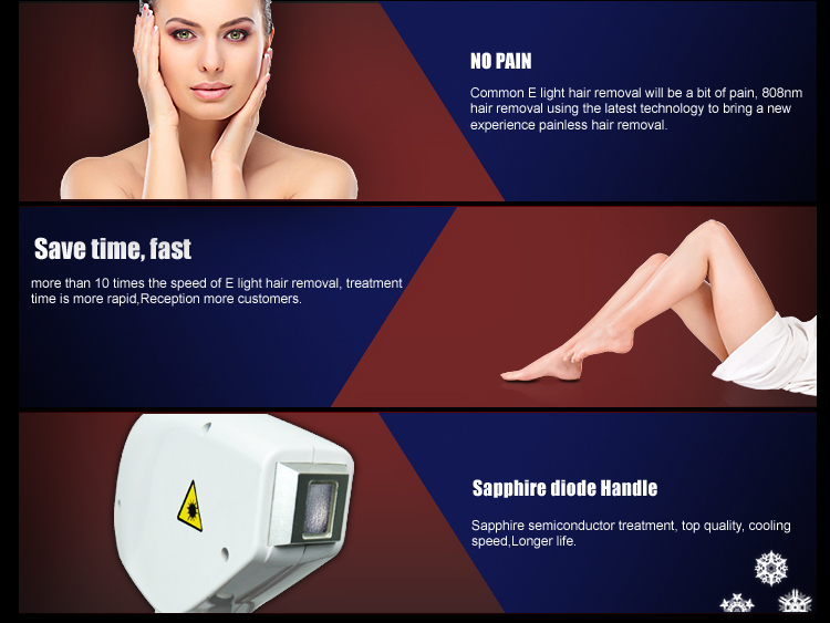 Diode Laser Handpiece 808nm hair removal machine for sale/types of laser hair removal machine