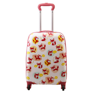 Custom Printed 20 Inch 4 Wheels Hardside Luggage Sets for Lady
