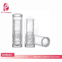 Modern design empty cosmetic plastic container make your own lipstick tube