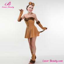 Big stock cosplay brown sexy adult lion dance costume