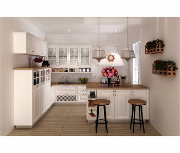 Modern Pure White Color Pvc L Shaped Modular Kitchen Designs Buy