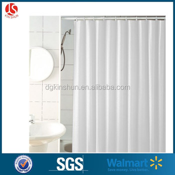 Strongest Mildew Resistant Shower Curtain 100 Anti Bacterial 10 Gauge Heavy Duty Liner