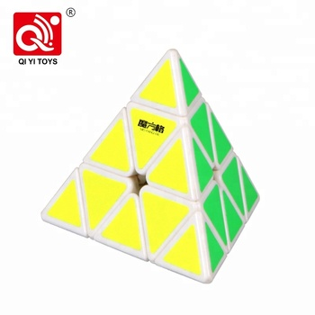 Qiyi mofange abs 95mm speed cube iq pyramid puzzle with good price