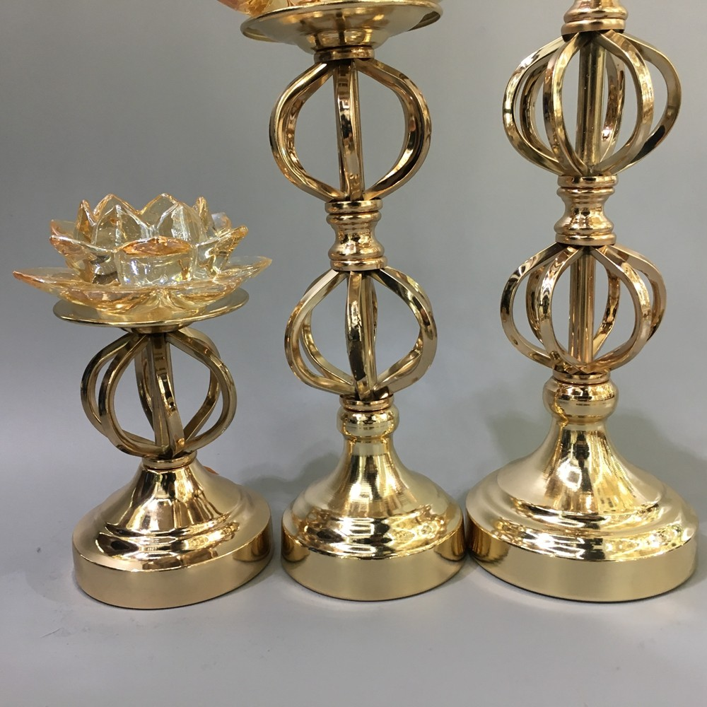 Antique Metal Christmas Tree Candelabra Gold Votive Candle ...