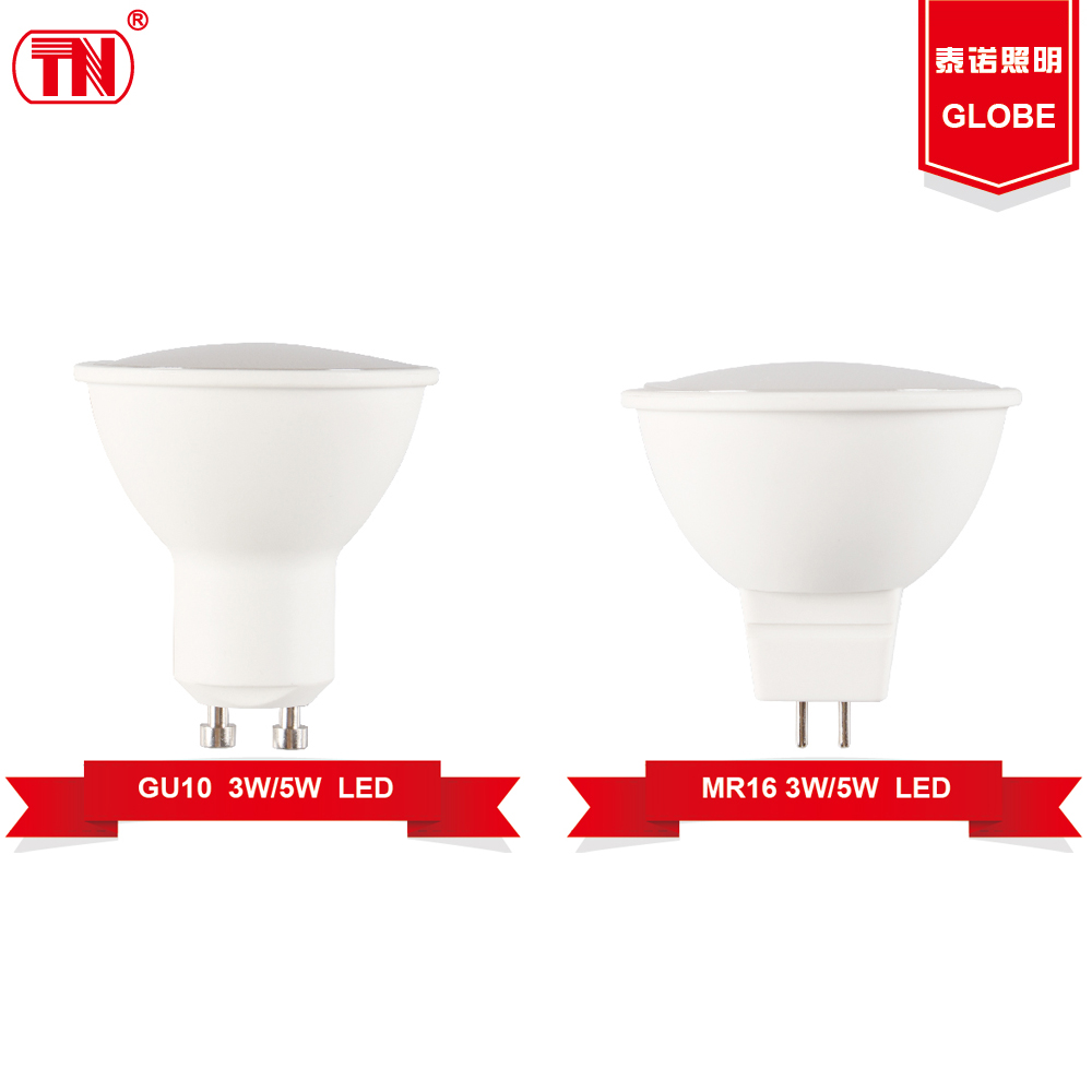 New type led light bulbs 3w 5w mr16 gu10 led Plastic Aluminum