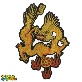 chinese dragons big high quality embroidery patch