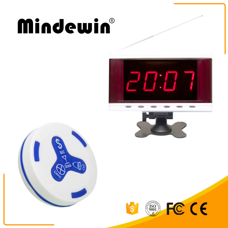 Mindewin 2017 New Design 433mhz Or 315mhz Wireless Pager Systems For Restaurants