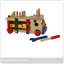 Tools Truck,Pre-school educational wooden toys,educational wooden toys wholesale