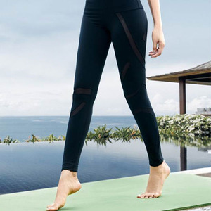 Workout Activewear No See Through White Nylon Yoga Pants