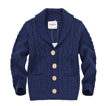 Wholesale Hand Knit Designs Wool Cardigan Sweater For Boys With