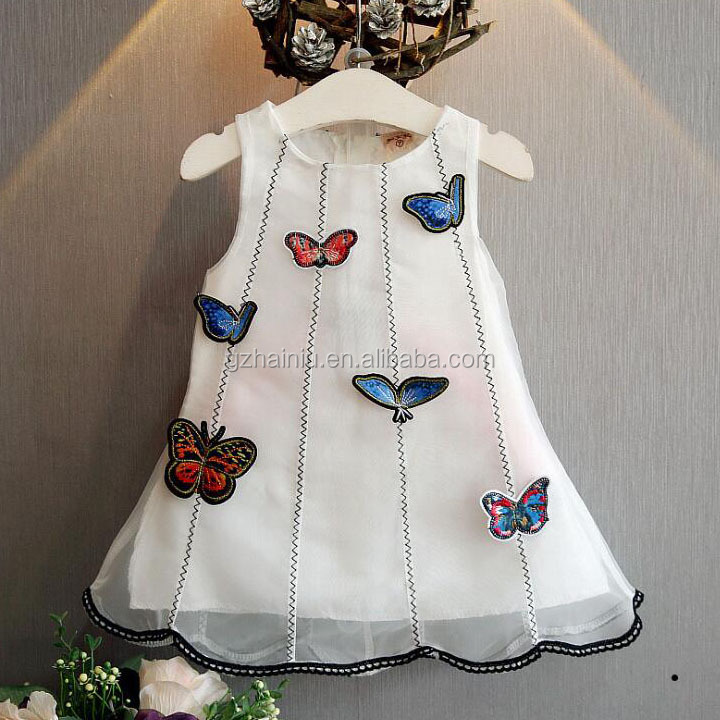 Korean version of the children's clothing in the summer children girl 3 three-dimensional cloth posted butterfly yarn quality