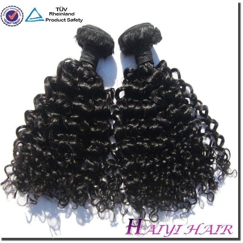 Natural Black Hair Weave African American Virgin Russian Curly Hair
