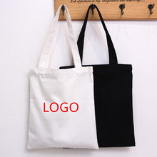 custom printed logo cotton canvas bags for shopping, wholesale handle tote bag