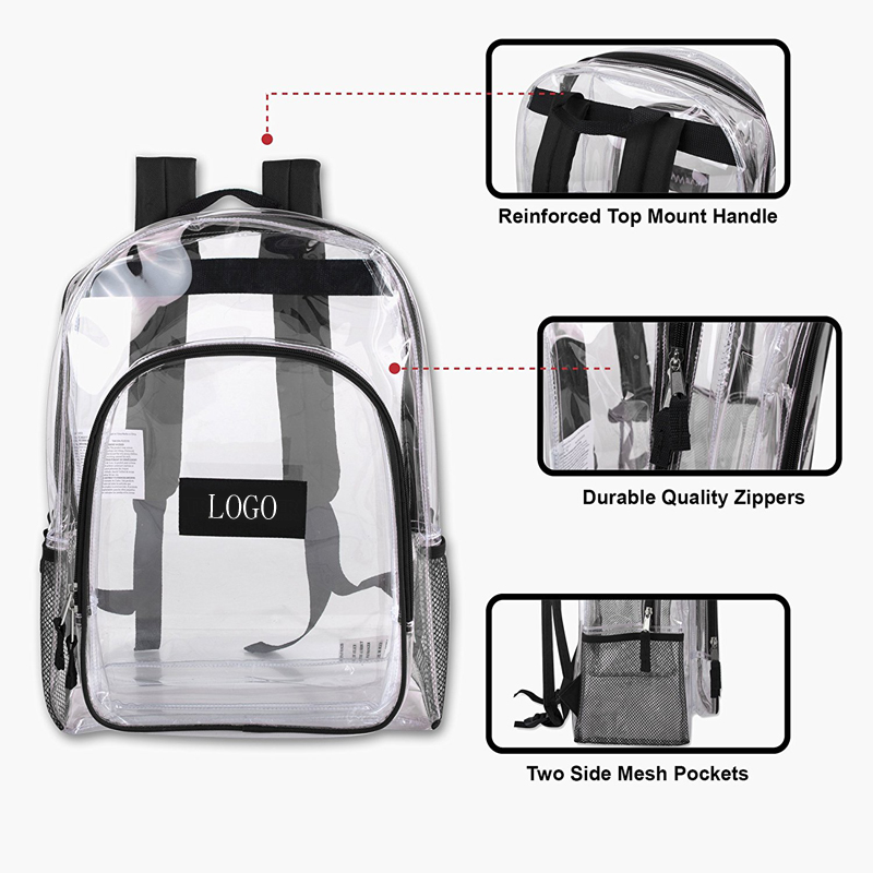 Deluxe Clear Plastic Bags Clear PVC Backpack
