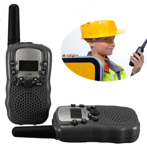 2 Piece T-388 3-5KM 22 FRS and GMRS UHF Radio for Child Walkie-Talkie