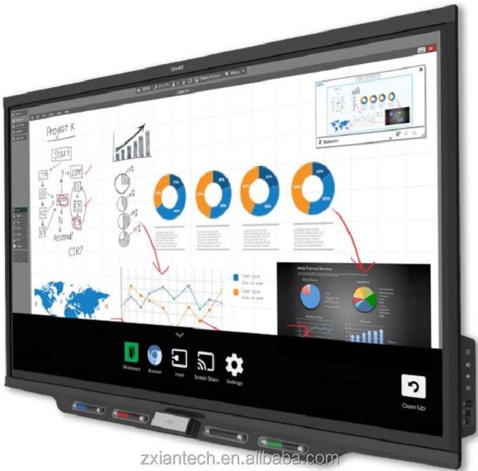 4 K smart white board muurbevestiging grote maat android digital signage screen interactieve board