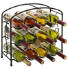 Metal build wine rack,iron wine shelf,metal wine bottle holder