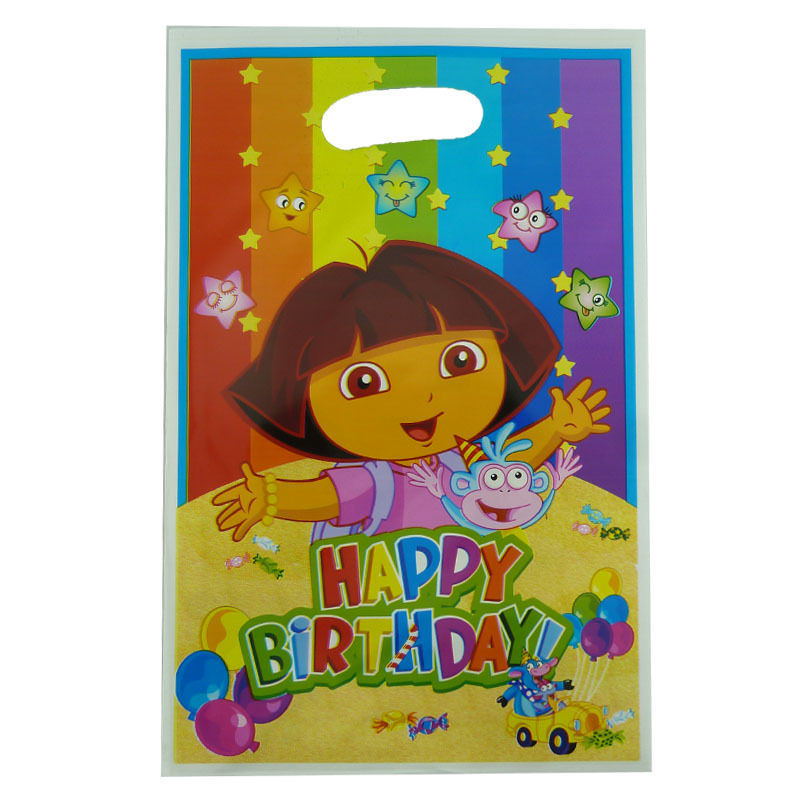 Get Quotations 12 Pieces Dora The Explorer Party Candy Gift Bag S Birthday Supplies Kids Loot