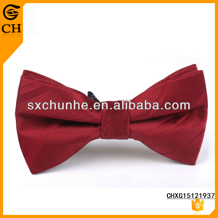 100% Polyester Red Cheap Bow Tie On Line Sale CHB011