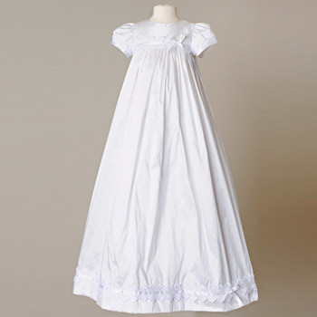 Lovely Silk Christening Outfits Draped Lace Appliques Infant Baptism ...