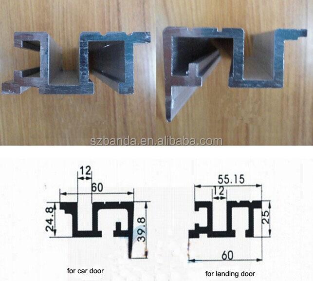 Elevator Landing Door Parts Sill Lift Landing Door Parts Aluminum