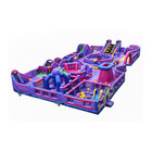 Customized Kids Fun City Inflatable Theme Park For Sale