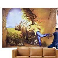Extra Large Size Design Printed 3D Dimensional Wall Art Painting on Canvas