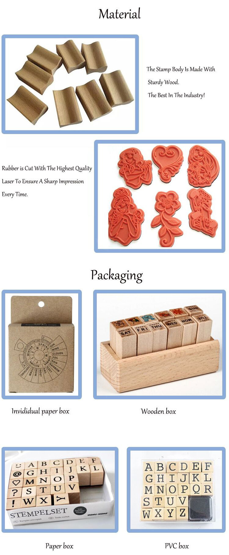 kids embossing promotion cut wood stamp for easter sunday