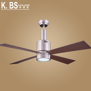 Good Quality DC Motor Low Energy Plywood Blade Brushed Nickel Ceiling Fan With Light