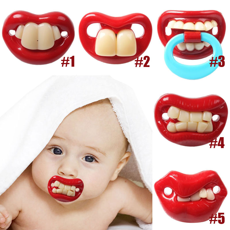 Top Silicone Funny Nipple Dummy Soother Joke Prank Toddler Pacy Orthodontic Nipples Teether Baby Pacifier Care High Qual